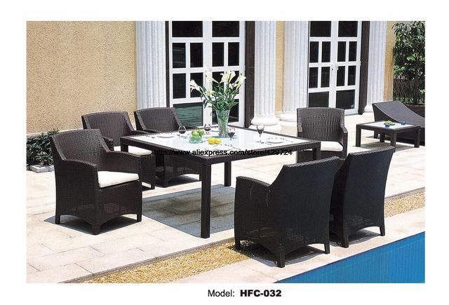 Clásico Juego de Jardín Moderna mesa de Ocio Al Aire Libre sillas de ...