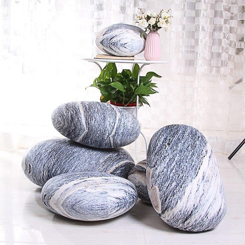6 pcs simulacao paralelepipedos almofada de pelucia multi funcao realista brinquedo de pedra travesseiros jogo deco