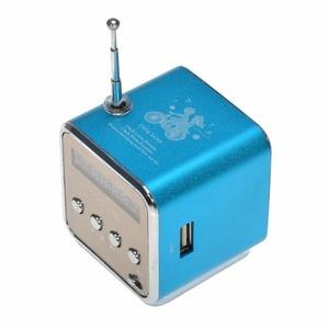 Image 3 - Kebidu נייד מיני סטריאו סופר בס רמקול דיבורית מגבר סאב רדיו FM USB מיקרו SD TF כרטיס MP3 נגן TD V26