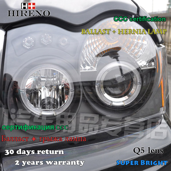 Hireno Headlamp For 2005 2008 Jeep Grand Cherokee Headlight Embly Led Drl Angel Lens Double Beam Hid Xenon 2pcs