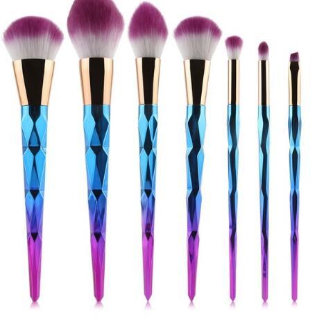 unicorn brush makeup brushes set 7pcs rhinestone tools