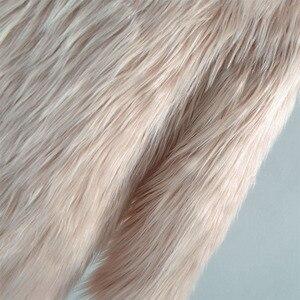 Image 5 - 털이 긴 스타일 가짜 모피 코트 겨울 솜털 두꺼운 따뜻한 후드 후드 코트 세련된 겉옷 오버 코트 트렌치 코트