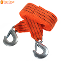On Sale Orange 3 Tons 4 Meter Flsorescence Vehicle Car Tow Cable Towing Strap Rope With Hooks 1 Year