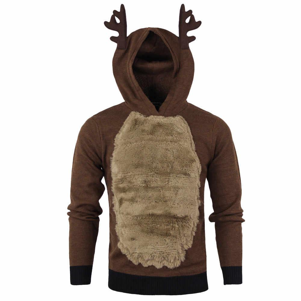 스웨터 크리스마스 주요 제품 남자 엘크 코스프레 스웨터 멋진 소년 가치가 sweter 뜨거운 판매 패션 스타일 크리스마스 스웨터