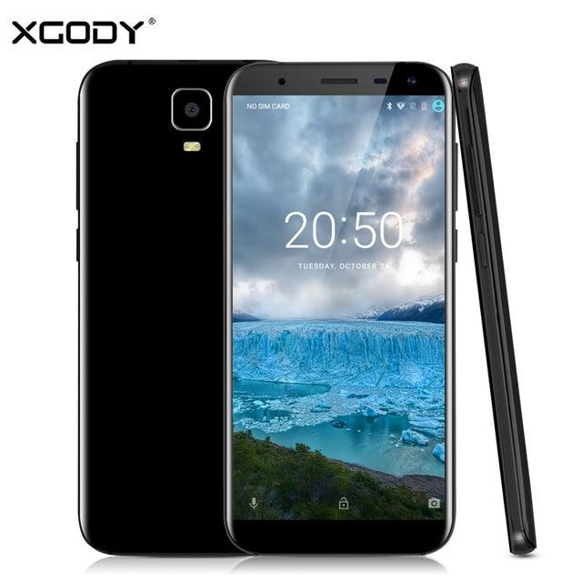 XGODY D24 Smartphone 5.5 Inch Android 7.0 Quad Core 1GB RAM 16GB ROM 8MP Dual SIM Cards Telefone Celular 3G Unlocked Cell Phones