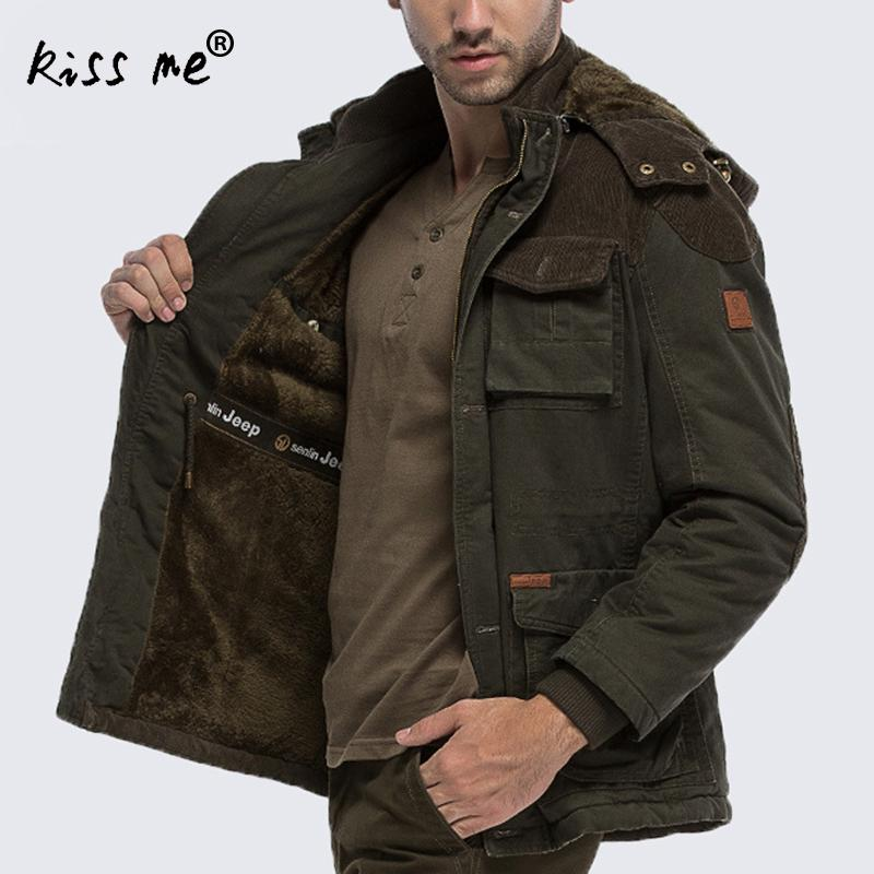 Winter jacket men plus size super warm thickening wool liner parka men brand clothing parka Winter coat men winter men