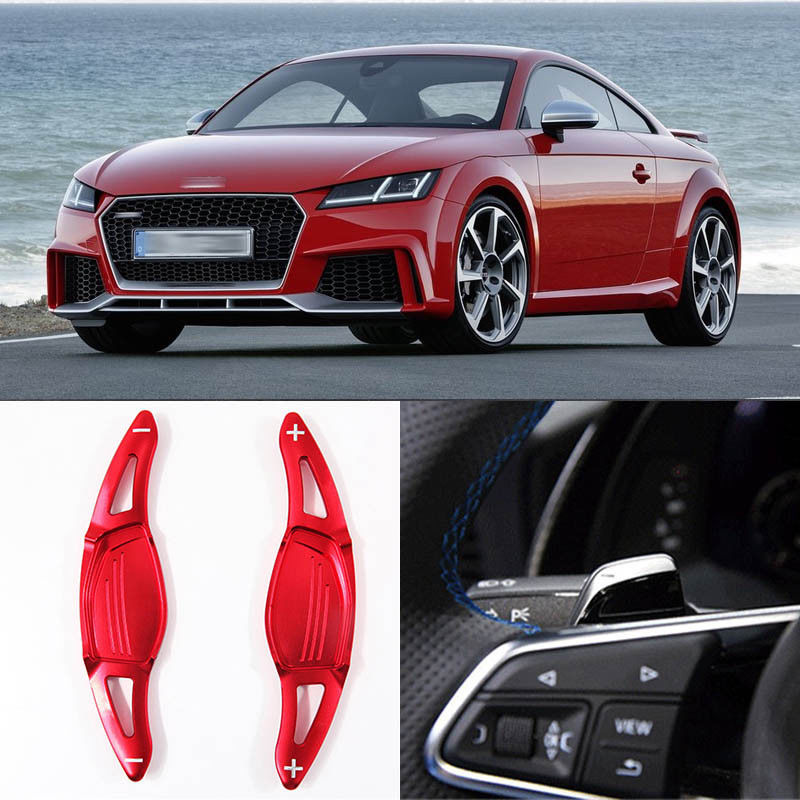 Savanini Alloy Add-On Steering Wheel DSG Paddle Shifters Extension For Audi TT RS 2016-17/R8 2016-2017/RS3 2017Savanini Alloy Add-On Steering Wheel DSG Paddle Shifters Extension For Audi TT RS 2016-17/R8 2016-2017/RS3 2017