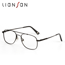 LianSan Vintage Retro Stainless Pilot Reading Glasses Women Men Luxury Brand Designer Hyperopia Presbyopic Round Eyewear L3695T