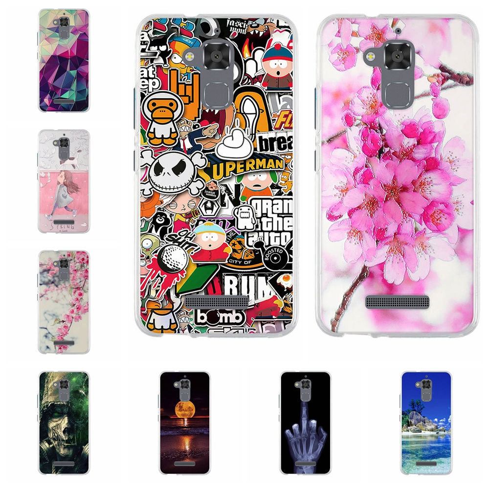 For Asus Zenfone 3 Max ZC520TL case Soft TPU Silicone Fundas for Asus ZC520TL Cover 3D Relief zc520tl  5.2'' Flower Phone Cases