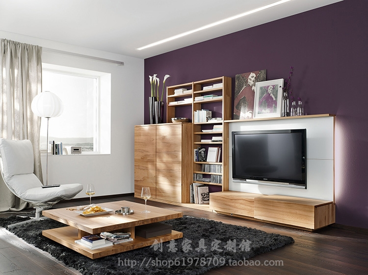 Estilo europeo y americano de madera maciza mesa de café ikea minimalista moderna sala de estar.jpg
