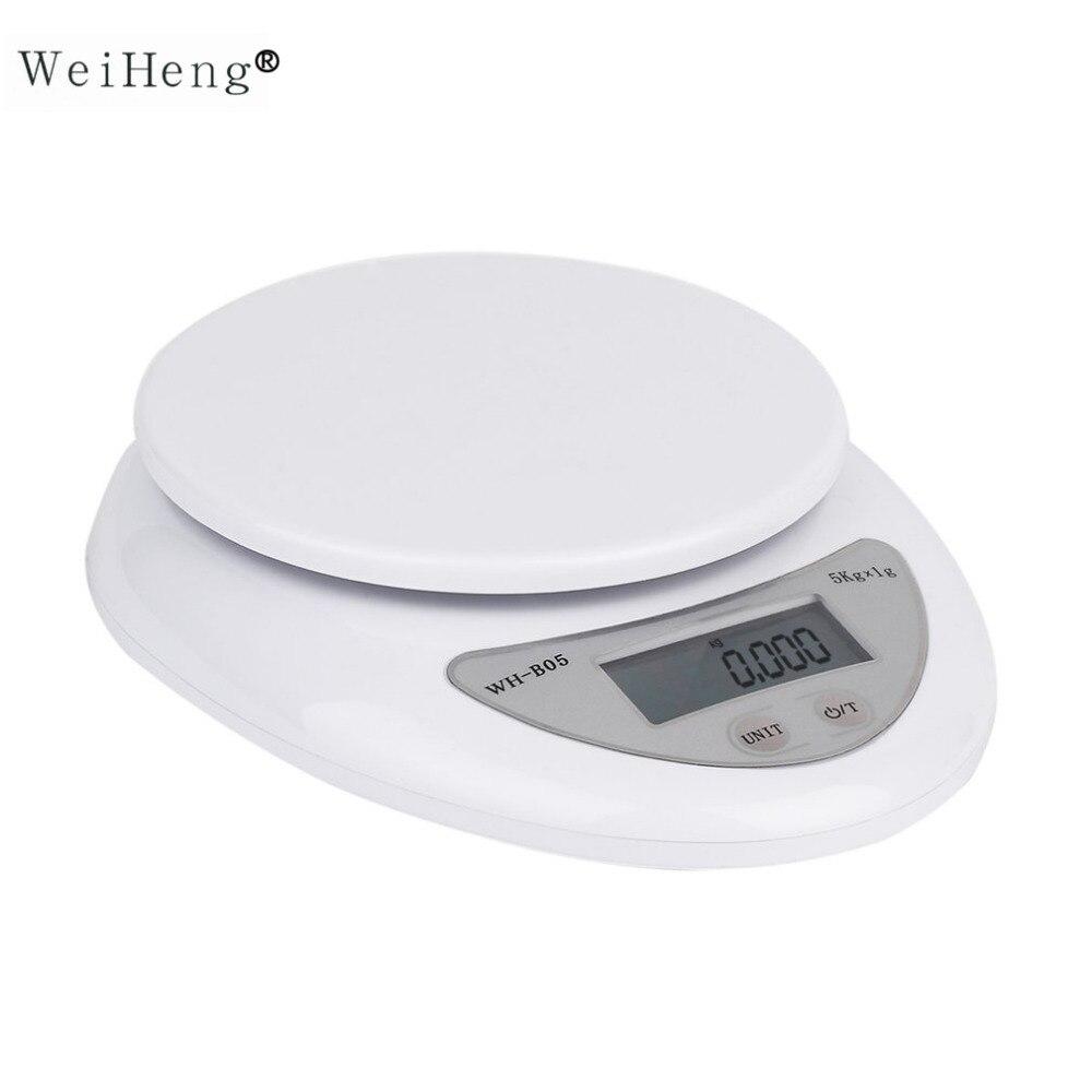 WeiHeng Heißer Verkauf 5 kg 5000g/1g LED Digital Waage Küche Lebensmittel Diät Post Skala Elektronische Gewicht waagen Balance Gewichtung Werkzeug