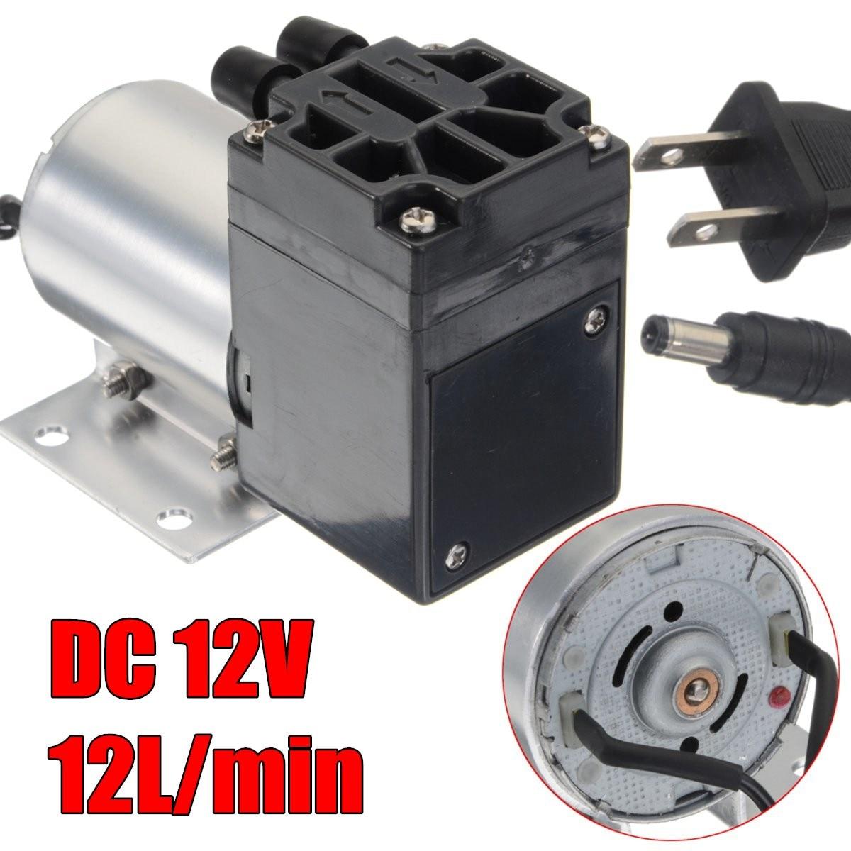 DC 12V mini vacuum pump Negative pressure suction suction pump 12L/min 120kpa 1pcs 12v anti corrosion vacuum pump mini 0 400 ml min self suction peristaltic pump