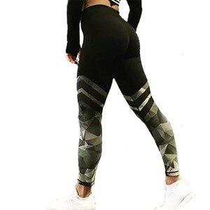 Image 3 - 새로운 패션 여성 하이 웨이스트 운동 레깅스 인쇄 펑크 여성 피트니스 스트레치 바지 캐주얼 슬림 팬츠 레깅스 6 스타일