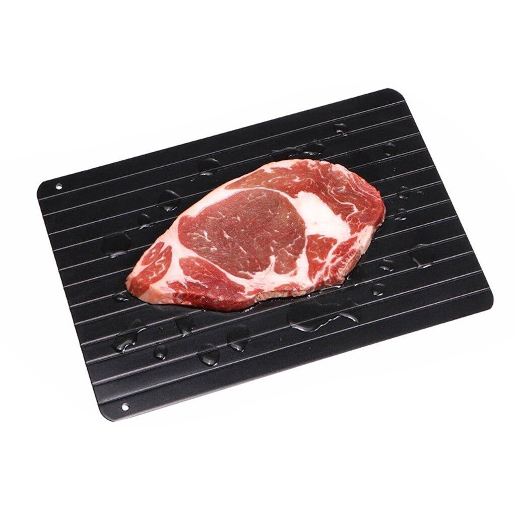 Bandeja de carne de aluminio descongelar descongelación descongelación milagro rápida de descongelación alimentos congelados