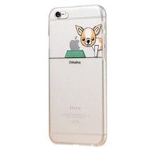 Chihuahua Samoed Pet Dog Phone Case For Apple iPhone 5 5s se 6 6s 7 plus Soft TPU Transparent Cover Case 6s Cute Cartoon     A21