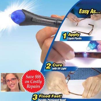 Szybkie 5 sekund światło ultrafioletowe Fix płyn szkło spawania związek klej naprawy narzędzia szybkiego użycia tanie i dobre opinie Uszczelniać