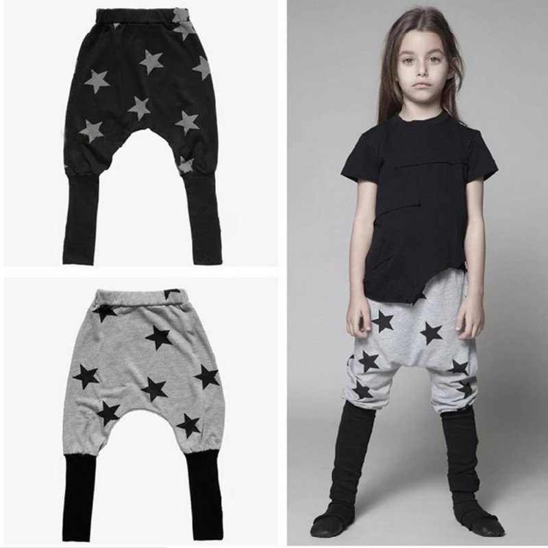 06e00930ceaf UNIKIDS Boys Girls Baggy Harem Pants Toddler Kids Sweat Pants Star Pattern  Elastic Bottoms Trousers-in Pants from Mother   Kids on Aliexpress.com