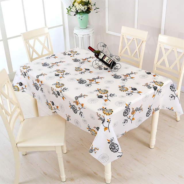 Pvc Tablecloth On The Table Oilcloth Waterproof For Kitchen Dining Tablecloths Rectangle Square Tables