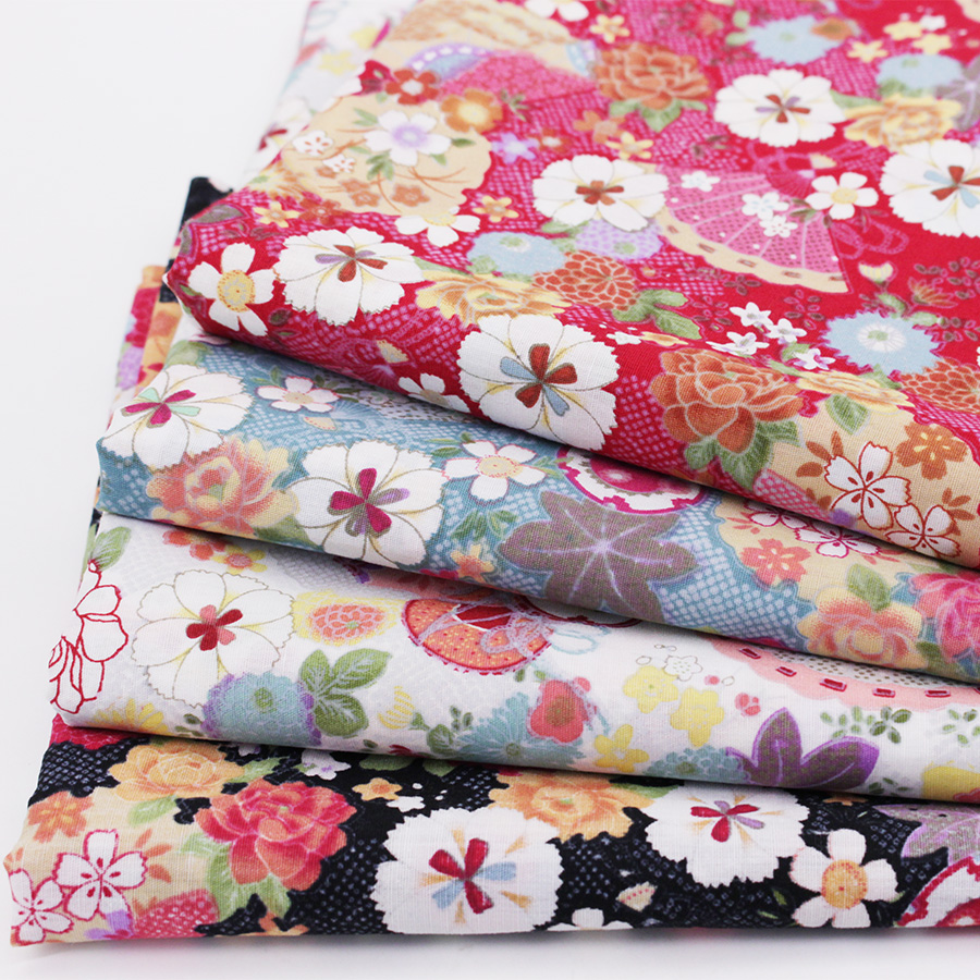 4 pcs lot printed cotton fabric for diy patchwork fabric quilting sewing clot - Lot de tissu patchwork ...
