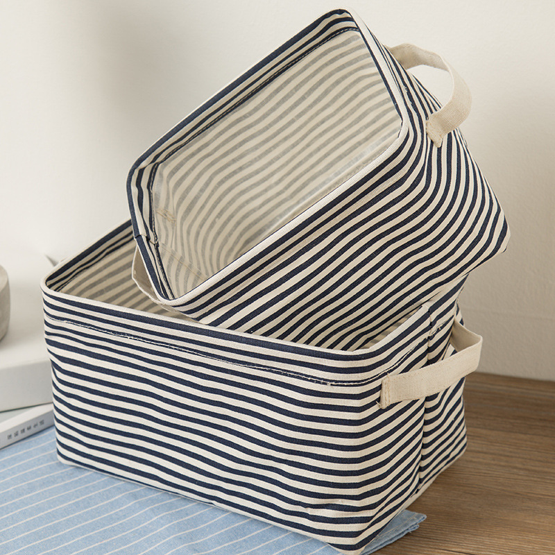 2017 New Foldable Non-Woven Fabric Desk Top Cosmetics Storage Box Office Stationery Storage Small Objects Basket Organization  ...