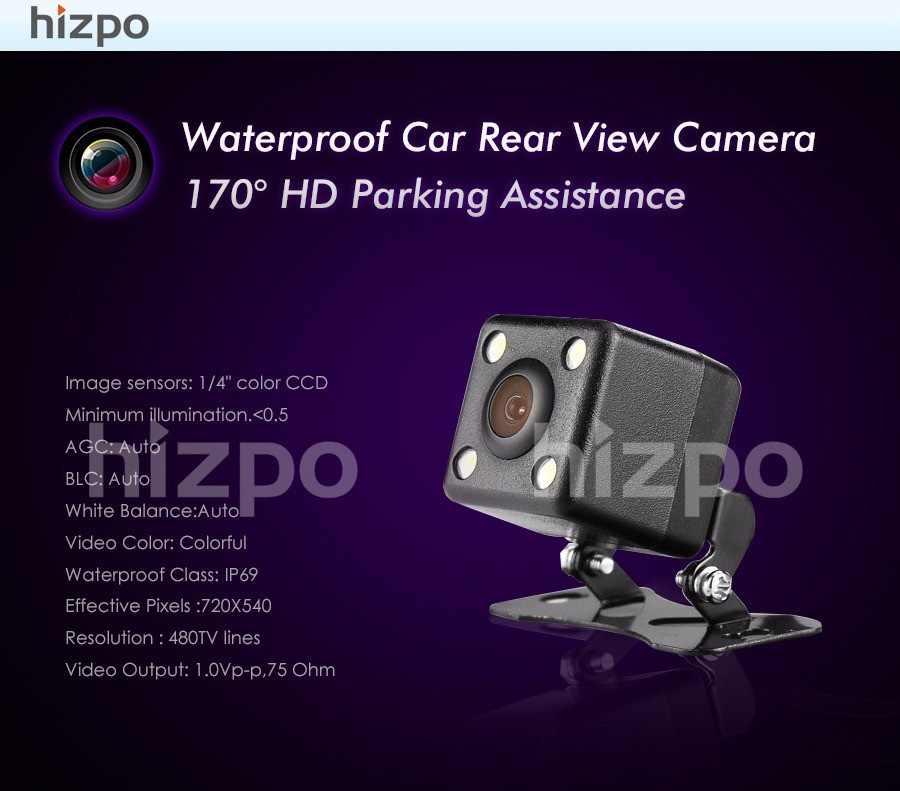 Бесплатная доставка CMOS автомобильная камера заднего вида парковочная камера ночного видения Водонепроницаемый 7 светодиодный с шестью метровыми проводами