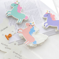 1 Pcs Cute Mini Cactus/Unicorn Memo Pads Sticky Notes Word Card Books Bookmark Stationery Office School Supplies
