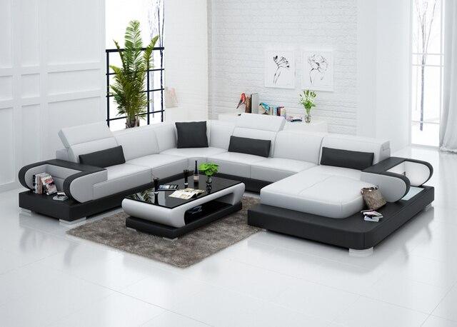In bianco e nero divano del soggiorno con l\'alta qualità 0413 G8002 ...