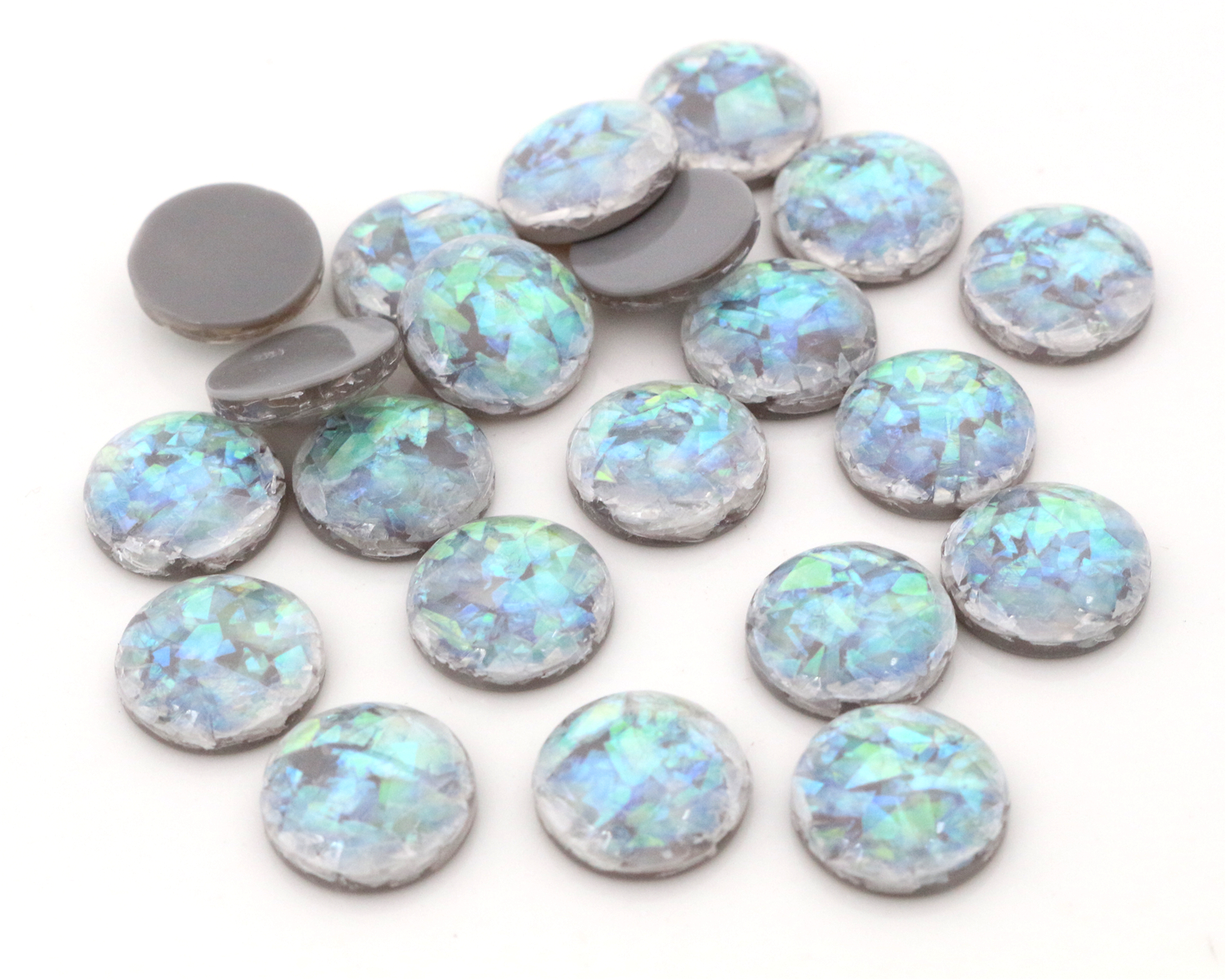 New Fashion 40pcs 12mm Gray Colors Built-in metal foil Flat back Resin Cabochons Cameo-V3-10New Fashion 40pcs 12mm Gray Colors Built-in metal foil Flat back Resin Cabochons Cameo-V3-10