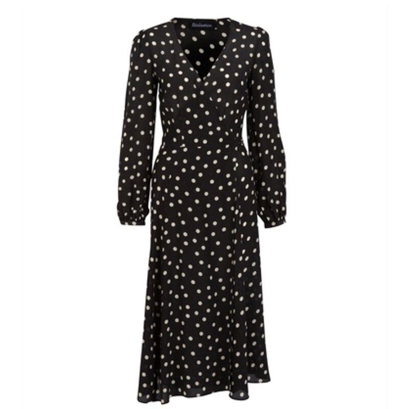 Couvert Blackwhite V Spot Wrap Manches Violette Cloche Avec Midi Robe Bouton Col v0qac6d