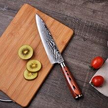 2018 SUNNECKO 8 дюймов шеф-повара Ножи Дамаск Сталь лезвие Кухня ножи японский VG10 Сталь Core Pakka деревянной ручкой шеф-повар резак
