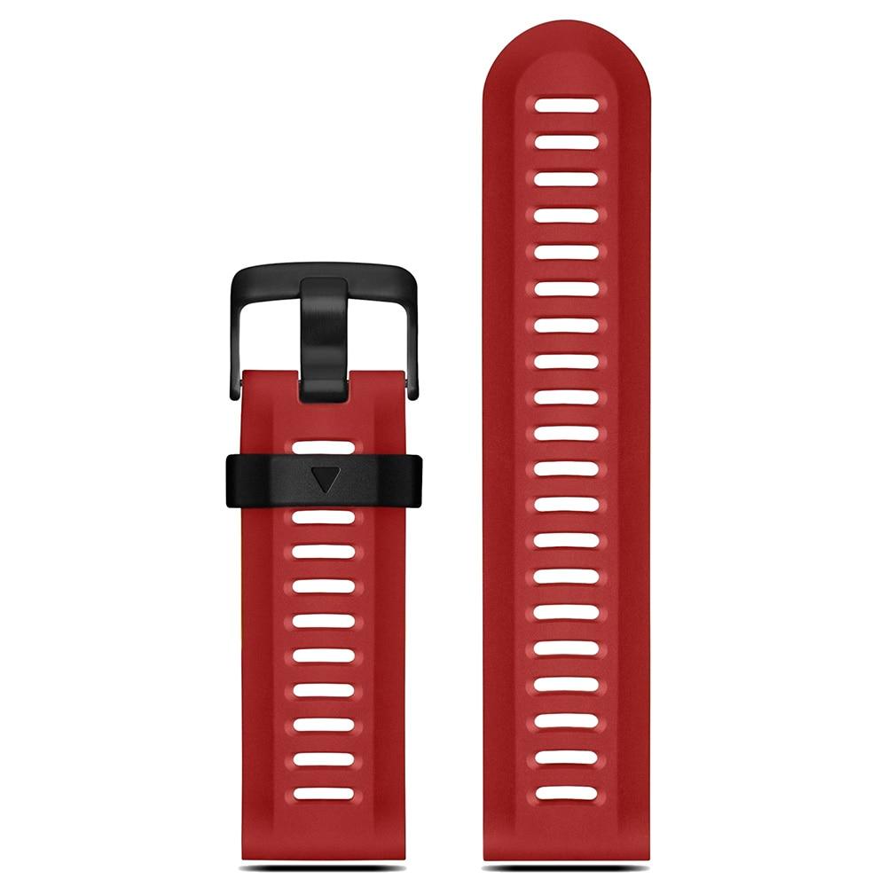YCYS-For Garmin Fenix 3 HR Soft Silicone Strap Replacement Wrist Watch Band+Tool Kits Dark Red silicone rubber watchband tool for garmin fenix 3 5x s5 5 vivoactive hr epix forerunner 935 fr935 watch band wrist strap black