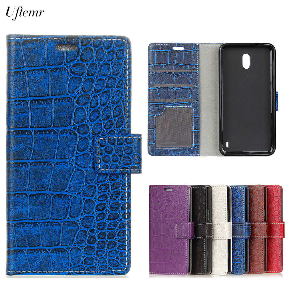 Uftemr Vintage Crocodile PU Leather Cover For Nokia 2 3 5 6 8 9 Protective Silicone Case Wallet Card Slot Phone Acessories