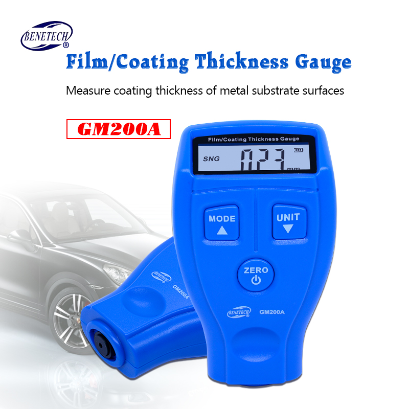 BENETECH digital coating thickness gauge 0-1.8mm/0-71.0mil GM200A Car Painting Paint Thickness Meter Car Diagnostic Tool