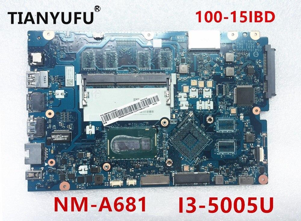 mainboard for Lenovo Ideapad 100 15IBD motherboard CG410 CG510 NM A681 I3 5005U DDR3L Laptop Motherboard