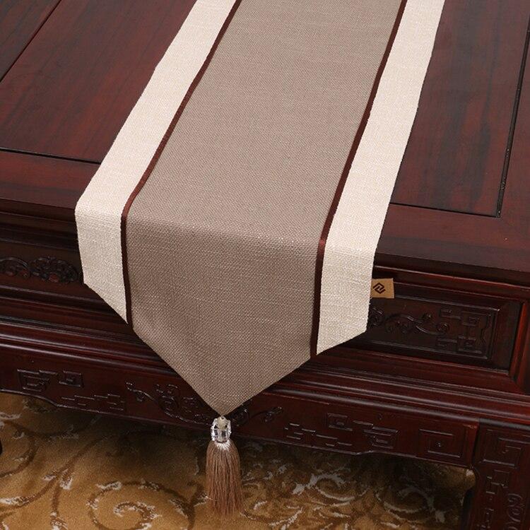 패치 워크 일반 삼베 테이블 러너 천으로 장식 테이블 매트 크리스마스 파티 긴 차 테이블 천 식탁 깔개 커피 패드