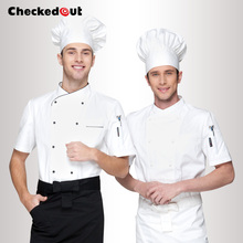 Brands checkedout Chef Wear Short SleevedClothes  Summer Hotel Chef Chef Clothes Dress Uniform Skirt  clothing