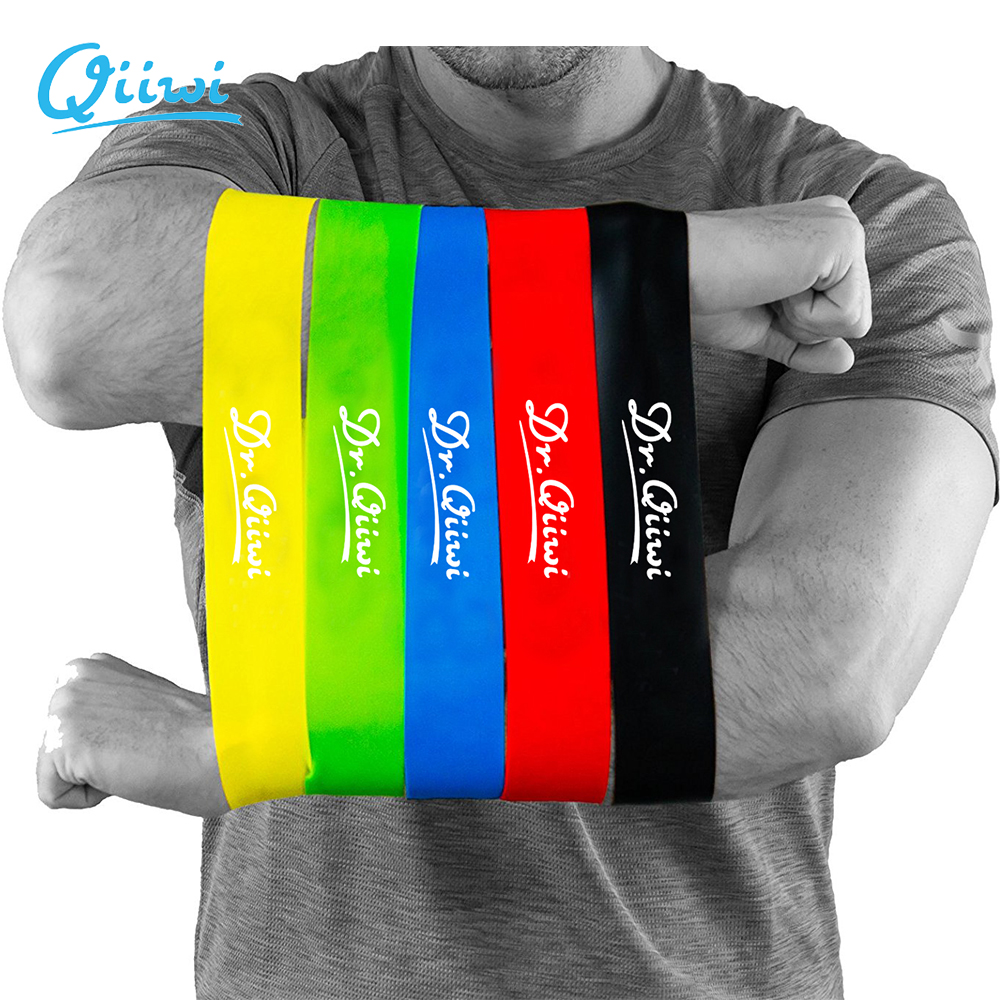 Dr.Qiiwi Resistance Band Set Träning Workout Gummi Elastic Loop Bands för Yoga Stretching Fysioterapi Fitness Equipment