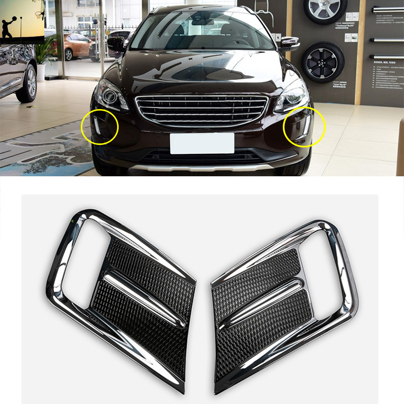 Car styling ABS Chrome front rear fog lamps Cover Trim For Volvo xc60 2014 2015 2016 2017 car-styling