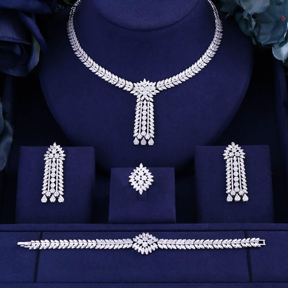 jankelly Hotsale Nigeria 4pcs Bridal Jewelry Sets New Fashion Dubai Full Jewelry Set For Women Wedding Innrech Market.com