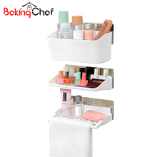3 Tier Bathroom Storage Holders Non-trace Stick Toilets Racks Home Tidy Organization Accessories Supplies Gear Stuff Product