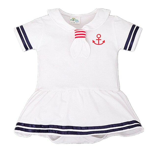 Macacão de bebê meninas Crianças criança vestido Do Marinheiro da marinha  estilo macacão Crianças 4 cores 97797394295