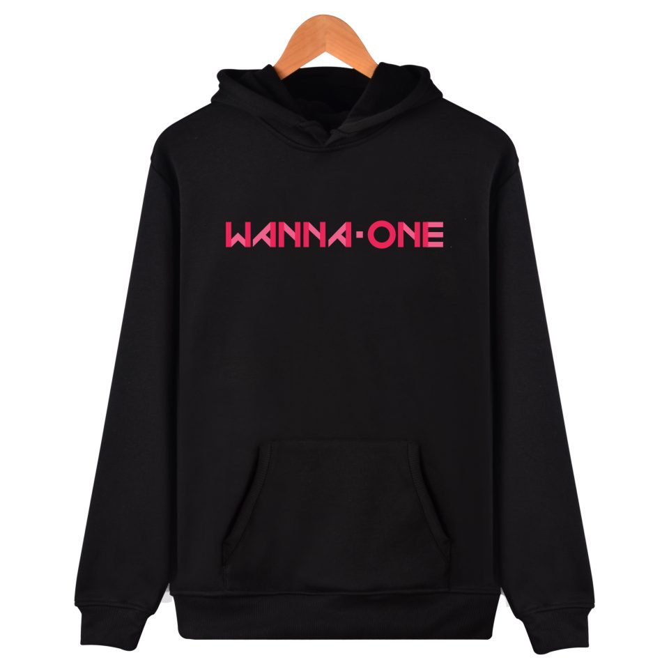 Kpop Korean New Boy Band WANNA ONE hoodie Fashion Clothing Korean Wanna One Clothes Men Women Hooded Sweatshirts