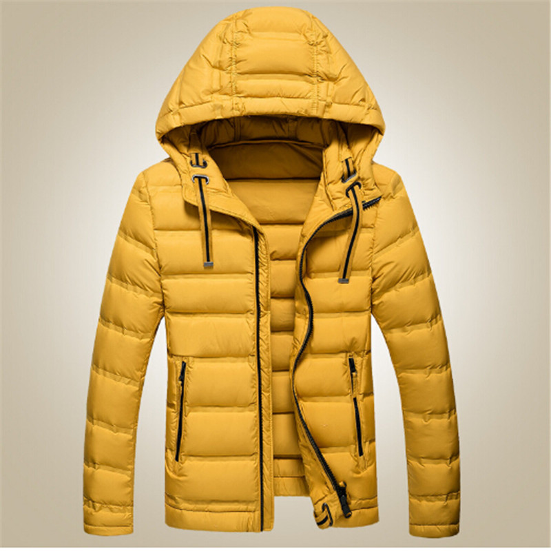 ФОТО 2016 Brand New High Quality White Duck Down Jacket Fashion Casual Thicken Warm Men Winter Jacket Coat Black/White Size:M-3XL