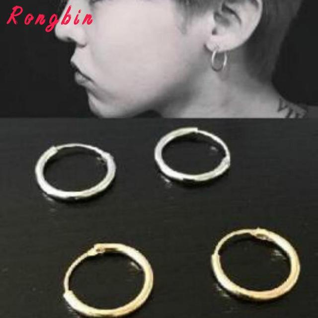 2017 With Fashion Personality Circle Earrings Brass Men And Women Can Wear Earri