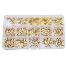 цена на ID*H*OD Brass Knurl Insert Nuts Copper Threaded Embedded Nutsert For Injection Moulding Set Assortment Kit Set M2 M3 M4 M5