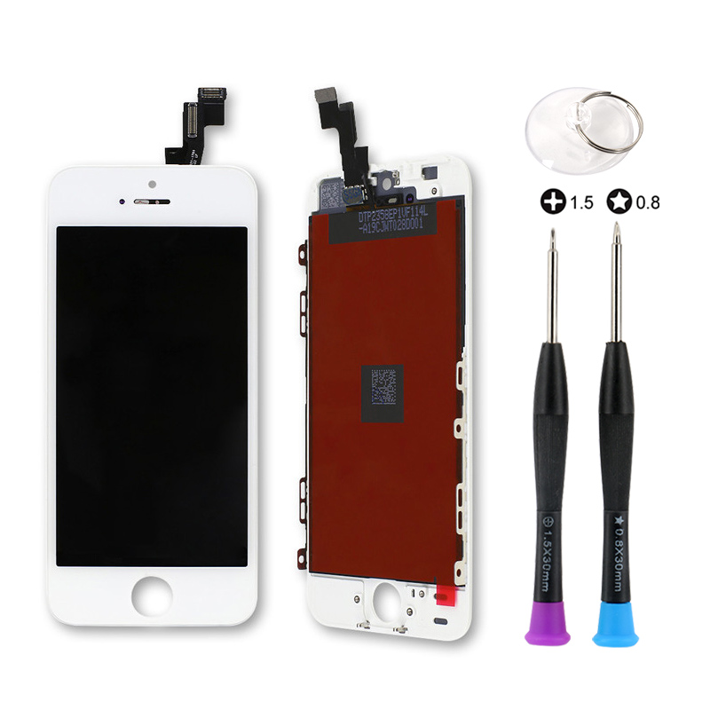 10 pièces Grade AAA + + + Tianma LCD pour iPhone 5 S 5 5C SE affichage avec écran tactile numériseur assemblage pas de Pixel mort avec outil ouvert
