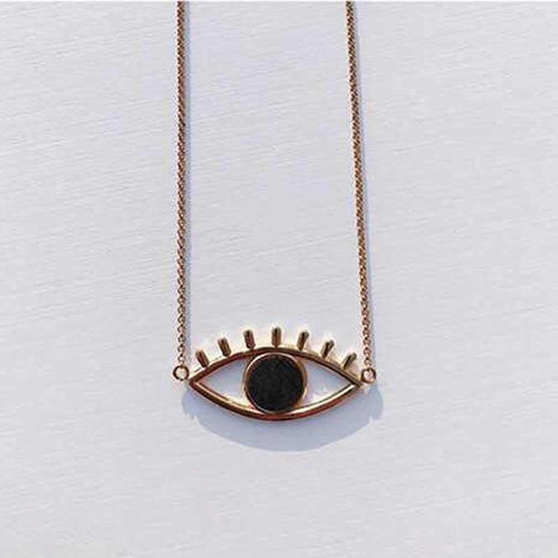 Charms Gold Chain Evil Eye Choker Necklaces&Pendants Fashion Long Statement Necklace Man Jewelry Women's Clothing Accessories