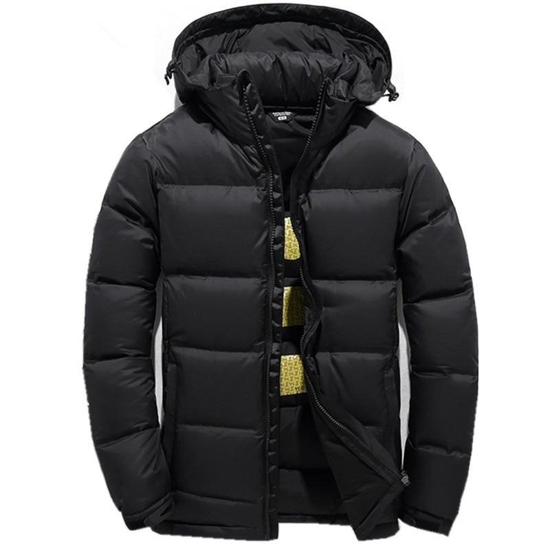 2019 mannen Donsjack Warm Witte Eend Winterjas Hooded Heren Waterdicht windscherm Mannelijke Casual hoodie Jacket Coat-in Donzen jassen van Mannenkleding op  Groep 1