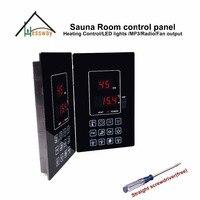 220V 110V 6kw outdoor Sauna Heater Temperture Controller panel led lights for sauna room