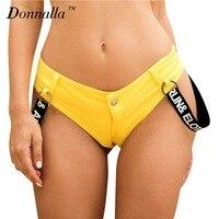 Donnalla Sexy Korte Jeans Vrouwen/Jong meisje Zomer Mode Denim Jeans Shorts Lage Taille Super Mini Micro Hotpants Strand bikini